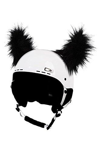 Crazy Ears Zwart haarkleurige hoorns | Helmmuts Helm-oren Helm Stickers | Bonthoorns