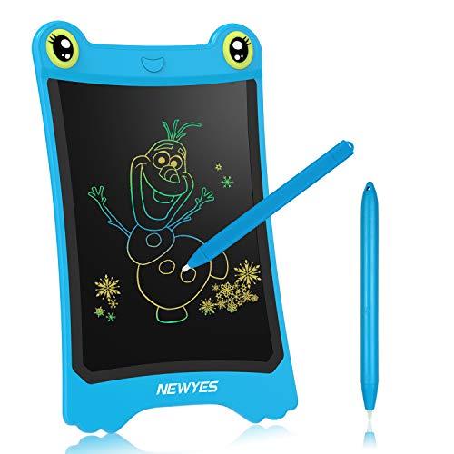 NEWYES Pizarra electrónica de colorines | Tableta de Escritura LCD | Tablet Dibujo para niños. Ideal como Pizarra Digital para Aprender a Leer y Escribir | Juguete Educativo 8.5