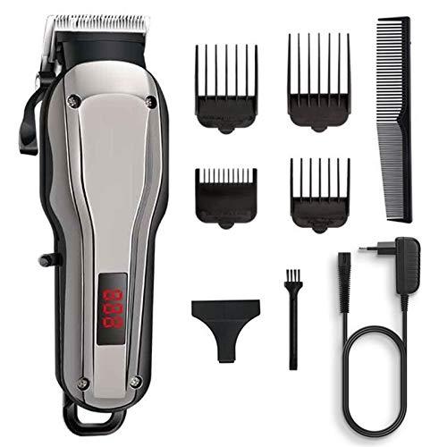 Cortapelos para hombres Potente inalámbrico cortadora de cabello profesional peluquero cortador de pelo for los hombres máquina de corte de pelo eléctrico 100-240V kit recargable para los homb