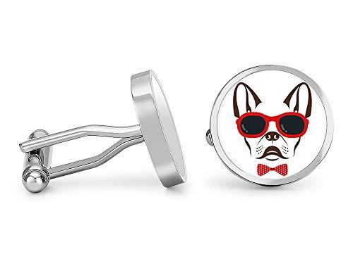 Oakmont Cufflinks French Bulldog Cufflinks Dog Cuff Links