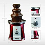 Gadgy ® 3-stufiger Schokobrunnen 90 Watt | 31,5 cm Hoch mit Turm aus Rostfreiem Stahl | 750 Gramm Kapazität | Retro-Look | Toll für Kindergeburtstage und Hochzeiten - 4