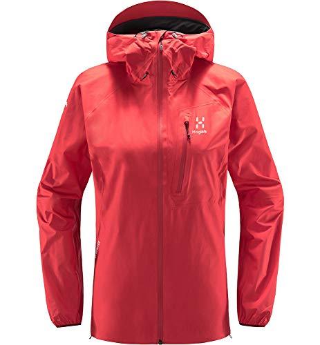 Haglöfs Regenjacke Frauen Regenjacke L.I.M Jacket Wasserdicht, Winddicht, Atmungsaktiv Extra Small Hibiscus red S S Small