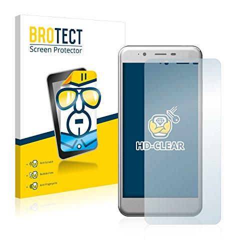BROTECT Schutzfolie kompatibel mit Archos 50 Cobalt (2 Stück) klare Bildschirmschutz-Folie