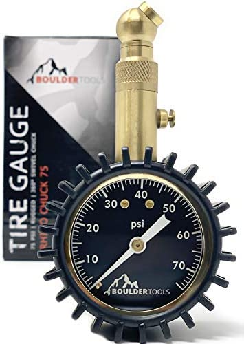 Boulder Tools Heavy Duty Tire Pressure Gauge 75 PSI Certified ANSI Accurate tire Gauge Large product image