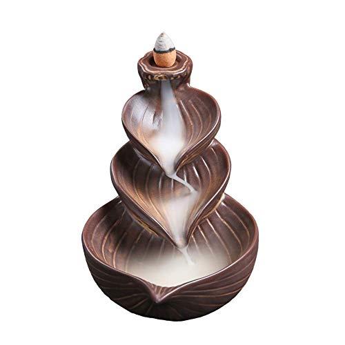 Räucherbrenner Räucherbrenner Brenner Räucherhalter Rucksack Weihrauch Messing Dekoration Keramik Home Interior Sandelholz Xping