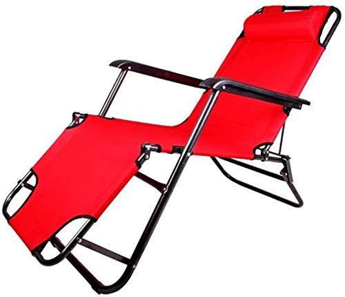 DFANCE Tumbona ligera, tumbona de jardín con gravedad cero, reclinable, plegable, reflexología, silla de jardín (color: rojo, tamaño: 153 62 30) (color: rojo, tamaño: 1786230)