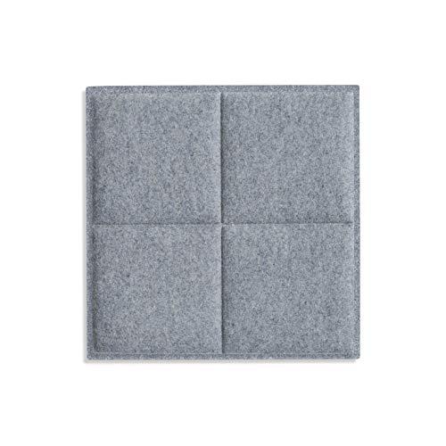 silentec colorPAD, Akustik Deckenpaneel  Schallabsorber, 4 square, für Rasterdecke hellgrau meliert 1017 620x620x32mm