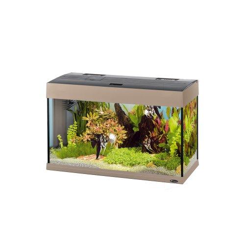 Ferplast 65034006 Aquarium DUBAI 80, Maße: 81 x 36 x 51 cm, 125 Liter, grau