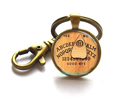 Ouija Board Keychain Ouija Board Key Ring Ouija Board Jewelry Antique Spirit Board Keychain Witch Spirit World Board Witchcraft,Q0299