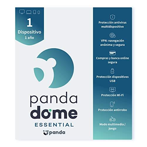 Panda Dome Essential 2021 – Software Antivirus   1 Dispositivo   1 año   VPN   Banca Segura   Bloqueo Antirrobo   Protección Wifi