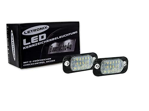 LETRONIX SMD LED Kennzeichenbeleuchtung Module geeignet für Golf 3 / Golf 3 Cabrio/Polo 3 Typ 6N / Polo 3 Typ 6N2 / Polo Classic/Polo Variant/Ibiza 2 Typ 6K / Cordoba 2 Typ 6K & 6C mit E-Prüfzeichen