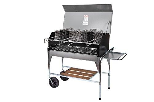 Barbecue a carbonella Family con griglie a cottura verticale
