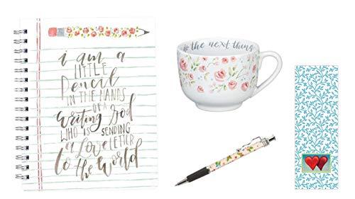 Trust In God And Do The Next Thing Becher, Sending A Love Brief-Notizbuch, rosa Tinte mit Lesezeichen