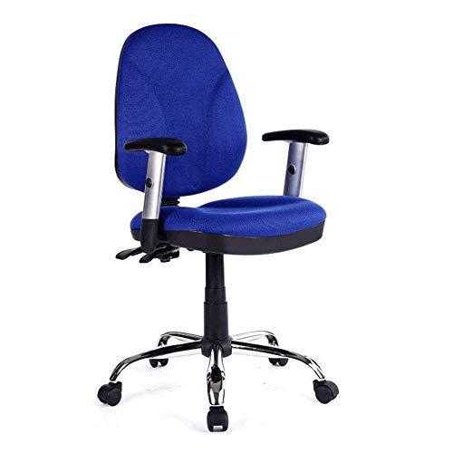 GAOXIAOMEI Bureaustoel, bureaustoel, beddengoed, strijkijzer, met armleuning, 360 graden draaibaar, draaibaar zwart