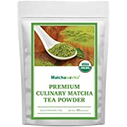Matchaworks Matcha Green Tea Powder Unsweetened (16 Ounces / 1 Pound) | Pure Certified Organic Premium Culinary Grade Extract | Keto, Vegan & Non-GMO | Smoothies, Lattes & Ice Cream