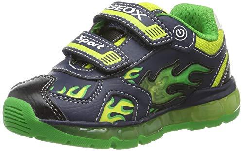 Geox Jungen J Android Boy C Sneaker, Blau (Navy/Lime C0749), 26 EU