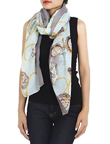 iB-iP Damen Uhr Stilvoll Modisch Herrlich Leichte Große Weich lange Mode Schal, Größe: Einheitsgröße, Leichte Moss