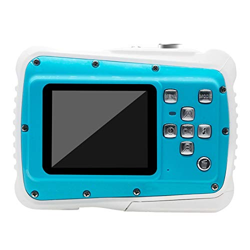 PURATEN waterdichte kindercamera, 21 MP HD 3 m waterdichte digitale onderwatercamera voor kinderen met LCD-scherm van 2,0 inch (2,0 inch), 8-voudige digitale zoom zwemmen strand kindercamera