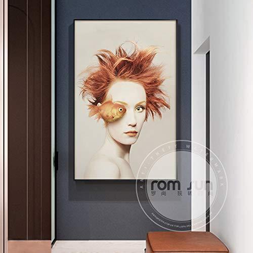 zxddzl Abstrakte Schulter, die dekoratives Schönheitsplakat 8 50 * 70 der Kunstmode Malt