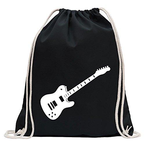 Kiwistar - E-Gitarre - Rock - Heavy Metal Turnbeutel Fun Rucksack Sport Beutel Gymsack Baumwolle mit Ziehgurt