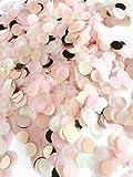 Konfetti rosegold mehrfarbig, 1cm rund, 20g, 1500 Stück – elegante und moderne Partydeko –...