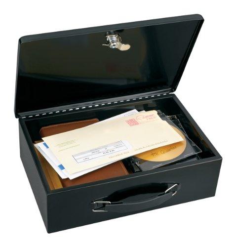 Master Lock 7140D Fire-Retardant Steel Security Box with Key Lock, Black