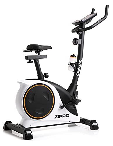 ZIPRO Cyclette da Allenamento NITRO RS, Bici da fitness, Home Trainer, Fitness Display LCD, Sensori delle Pulsazioni, 150kg