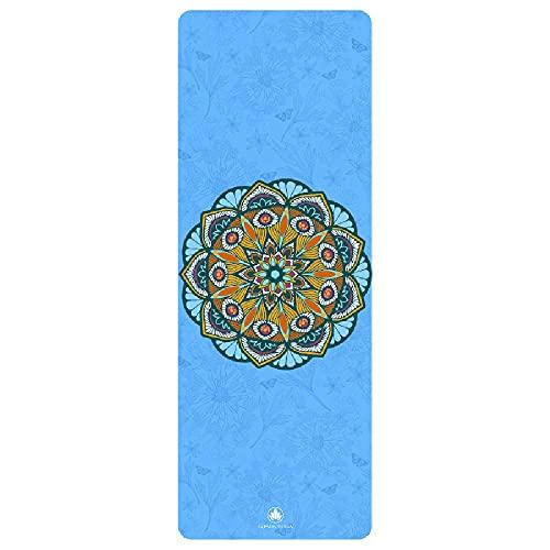 jiande La Alfombra de Yoga Que Adora el Sudor, la Alfombrilla de Yoga Caliente, la Toalla no Deslizante, con Bolsa de Almacenamiento, diseñada para Bikram, Yoga Caliente, ashtanga, Vinyasa, Poder