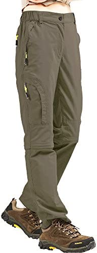 Womens Hiking Safari Pants Outdoor Zip Off to Shorts Lightweight Quick Dry Stretch Travel Pants product image