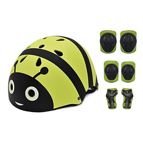 QZPDP Casco Infantil Monopatín,Casco para Bicicleta, tamaño de la Cabeza Ajustable, Resistencia...