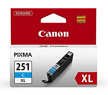 Canon CLI-251XL Cyan Ink Tank Compatible to MG6320  IP7220 & MG5420 MX922 MG5520 MG6420 MG7120 iX6820 iP8720 MG7520 MG6620 MG5620  CLI-251 C XL