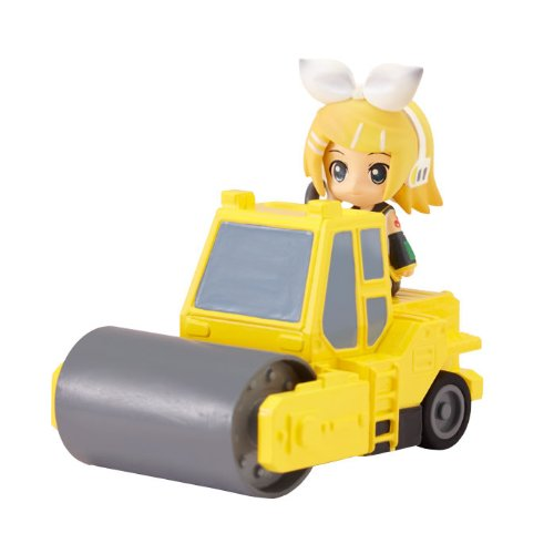 Nendoroid Plus: Vocaloid Pull-back Cars Rin & Road Roller (Yellow) (PVC Figure)