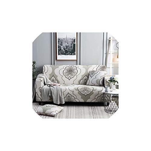 Black-Sky Fundas sofá elástica Todo Incluido sofá Cubierta en Forma de L sofá de la Esquina Cubiertas para Sala de Estar Funda Sofá 1PC Toalla, Color 1,4 plazas 235-300cm