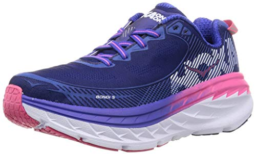 HOKA ONE ONE Womens Bondi 5 Running Shoe (10.5 B(M) US, Blueprint/Surf The Web)