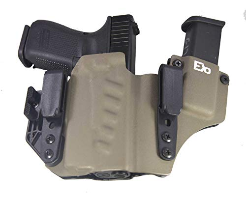 Fierce Defender IWB Kydex Holster Compatible with Glock 19 23 32 w/Olight PL-Mini Valkyrie +1 Series w/Claw -Made in USA- Gen 5 Compatible (Flat Dark Earth)