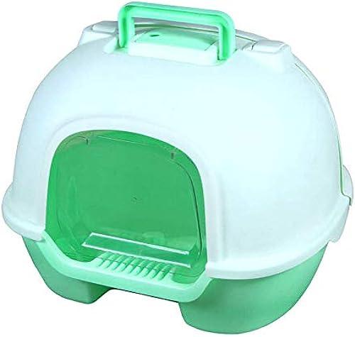 tienda de venta en línea Miaoxuewei Nueva Caja de de de Arena Grande Tapa Totalmente Cerrada Tapa Gato Aseo saneamiento Ambiental Conveniente  100% a estrenar con calidad original.