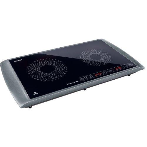 SENCOR SCP 5303GY Placa de Inducción Doble Portátil, 2 Fuegos eléctrica 2900W,...