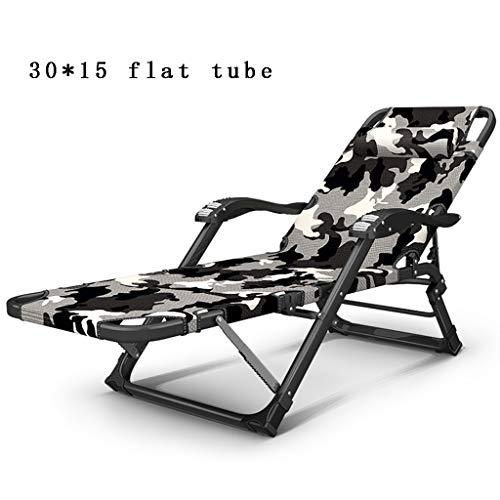 YLCJ Home Lounge stoel op kantoor, lunchpauze, duikbed, multifunctioneel, verstelbare rugleuning, balkon, draagbare klapstoel, massage, armleuningen, vet, ijzeren legering, buis, rek, ligstoelen
