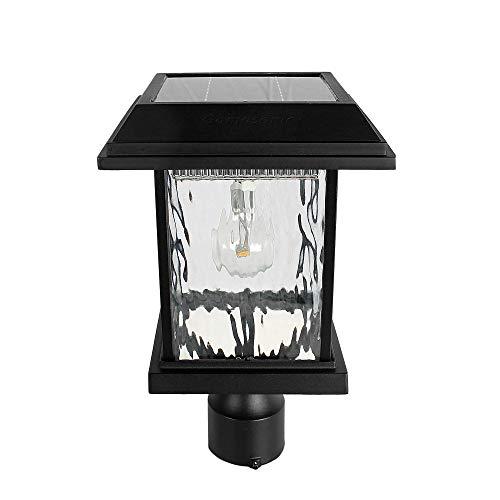 GAMA SONIC Aspen Solar Post Light, Outdoor Solar Powered LED Light, 3