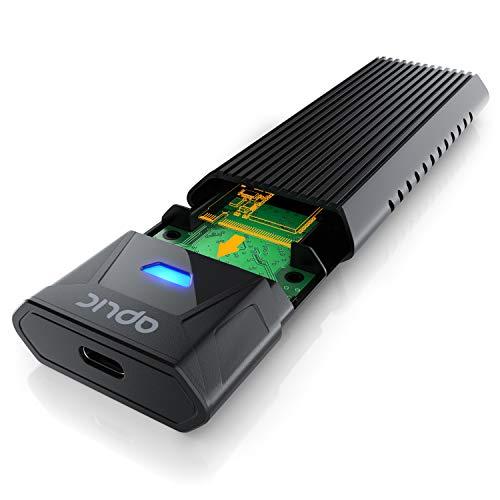 CSL - USB 3.2 Gen 2 SSD M.2 Festplattengehäuse USB 3.2 Gen 2 auf PCIe 3.0 und SATA - bis zu 10Gbps - kompatibel mit Größe 2230, 2242, 2260, 2280 - NVMe/SATA zu USB - unterstützt UASP