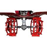 Grünwelt GW-AX32-220 - Juego de ruedas de hierro (semiejes, ruedas de pala, rueda de hierro)