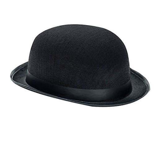 Derby Hat - 19th Century Black - Halloween Costume Accessory - Kids/Adults