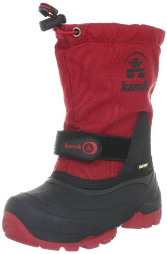 Kamik WATERBUG5G, Unisex-Kinder Warm gefütterte Schneestiefel, Rot (RED), 28 EU (10.5 Kinder UK)