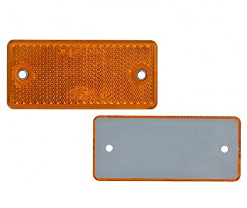 12 x Spot – Réflecteur arrière – Vis – 90 x 40 mm – Jaune – Marque de contrôle