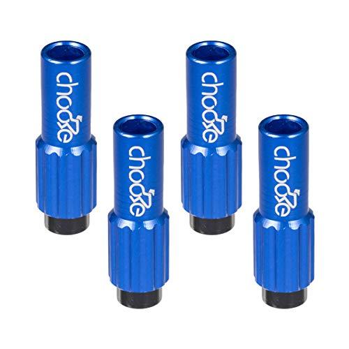 Chooee 4pcs para Bicicleta de montaña Bicicleta de Carretera Desviador Cambio Ajustable Tornillo,Azul