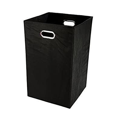 Modern Littles Folding Laundry Basket, Black - Collapsible Laundry Bin for Toys - Bedroom Organizer - Foldable Bin with Large Capacity. Adult and Kids Room Decor