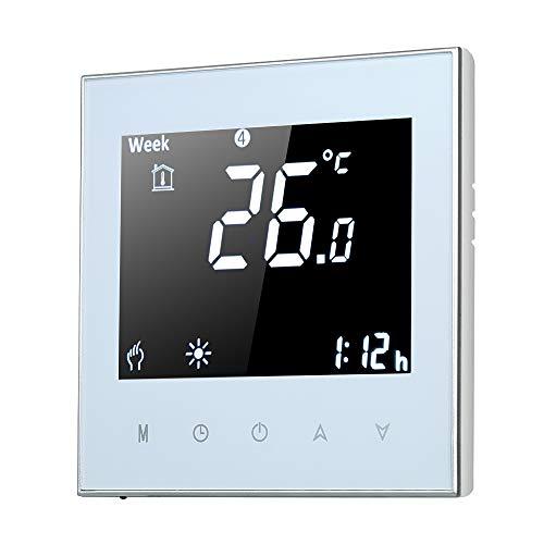 サーモスタット 床 暖房モニター W-Fi 温度コントローラー 携帯電話 無線制御 携帯電話で制御 温度アラーム 気象ステーション カレンダー機能あり デジタルLCD大画面 屋内 屋外-5A