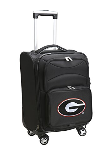 Denco NCAA Georgia Bulldogs Domestic Carry-On Spinner, 20-Inch, Black