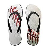 Sandales unisexes minces à bascule,Balle de baseball professionnelle, cout, Tapis de yoga Flip Flops plage confortable bracelet en cuir avec légère en EVA Sole Taille L