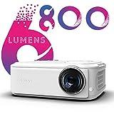 Proiettore Full HD, BOSNAS Videoproiettore 1080p Nativo Supporta Sonori Hi-Fi, con Correzi...